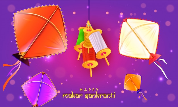 Conception de bannière happy makar sankranti