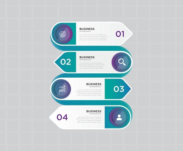 Conception de bannière d & # 39; infographie entreprise