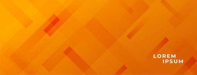 Conception de bannière large abstrait orange élégant