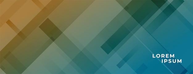 Conception de bannière large de lignes diagonales abstraites