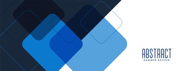 Conception de bannière large de style professionnel bleu moderne