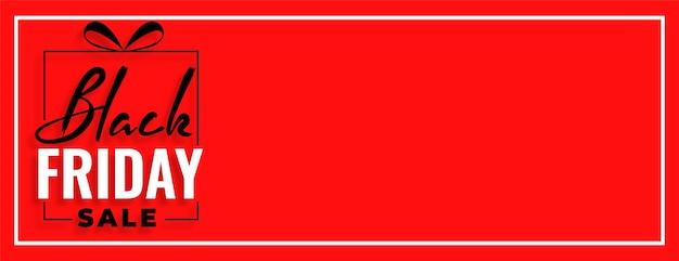 Conception de bannière large vente vendredi noir rouge