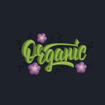 Conception de bannière de lettrage 3d organique