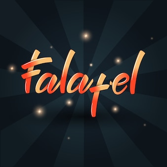 Conception de bannière de lettrage falafel