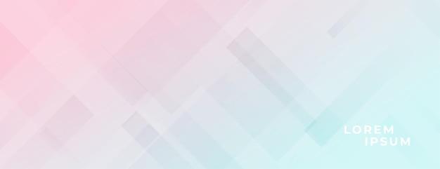 Conception de bannière lumineuse élégante aux couleurs pastel