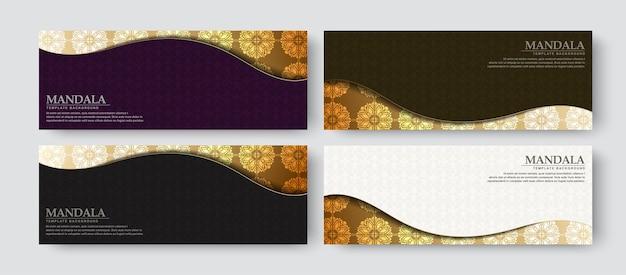 Conception de bannière de luxe avec style de motif de texture
