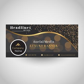 Conception de bannière de médias sociaux de luxe