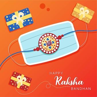 Conception de bannière de modèle heureux raksha bandhan
