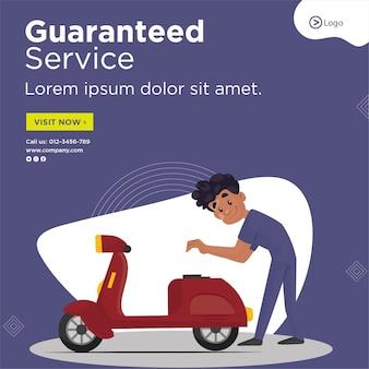 Conception de bannière de modèle de service garanti