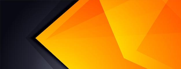 Conception de bannière moderne abstrait noir et jaune