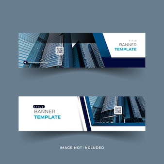 Conception de bannière moderne de couleur bleue
