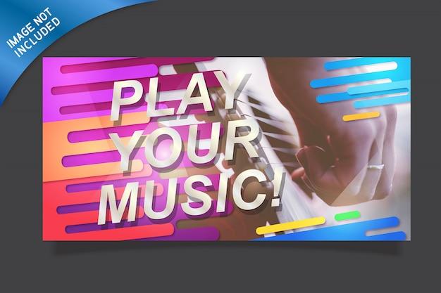 Conception de bannière de musique colorée