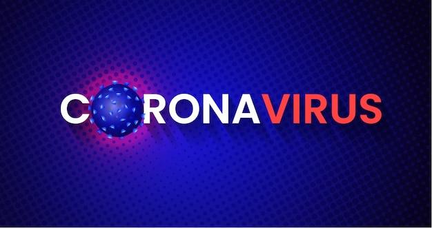 Conception de la bannière pandémique mondiale du virus corona covid-19