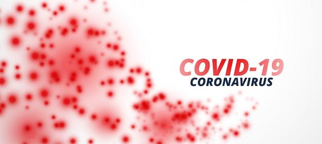 Conception de bannière de particules de virus d'épidémie de coronavirus covid-19