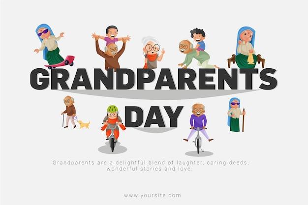Conception de bannière pour la journée des grands-parents
