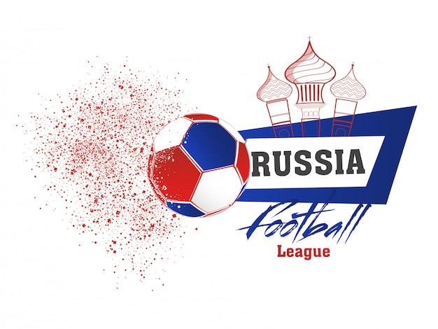 Conception de bannière pour la ligue de football de la russie.