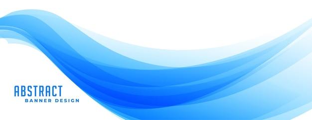 Conception de bannière de présentation vague bleue abstraite