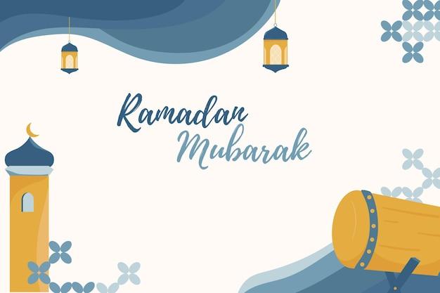Conception de bannière ramadan eid mubarak