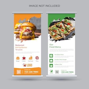 Conception de bannière roll up alimentaire pour restaurant