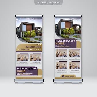 Conception de bannière de rouleau pour l'immobilier d'entreprise