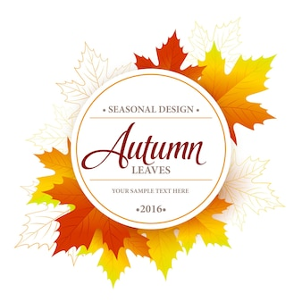 Conception de bannière saisonnière d'automne