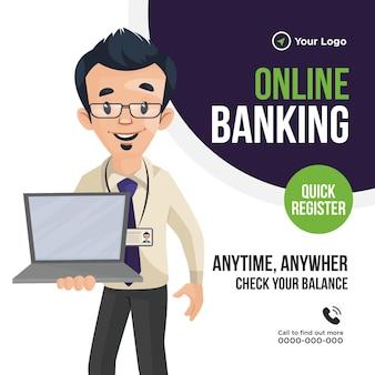 Conception de bannière de services bancaires en ligne