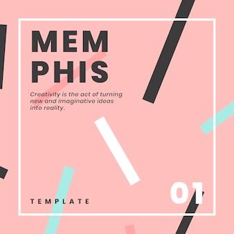 Conception de bannière de site web de memphis