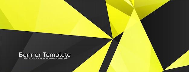 Conception de bannière de style géométrique abstrait
