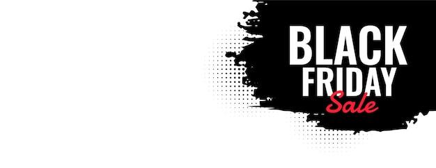 Conception de bannière de style grunge vente vendredi noir