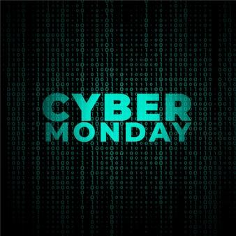 Conception de bannière de style de technologie numérique cyber monday