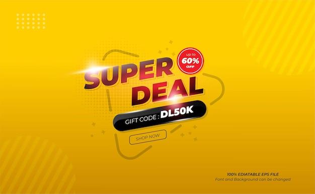 Conception de bannière super deal