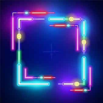 Conception de bannière de technologie carrée.