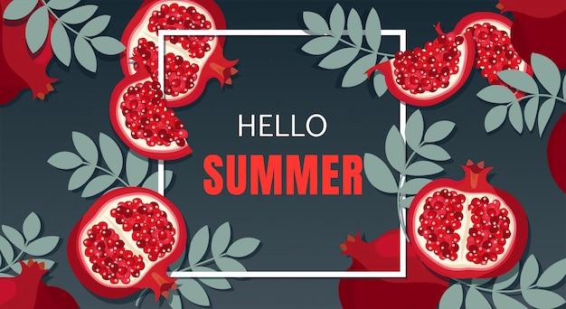 Conception de bannière de vacances d'été.