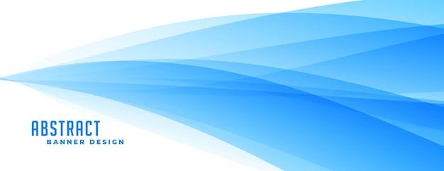 Conception de bannière de vague de présentation bleue abstraite