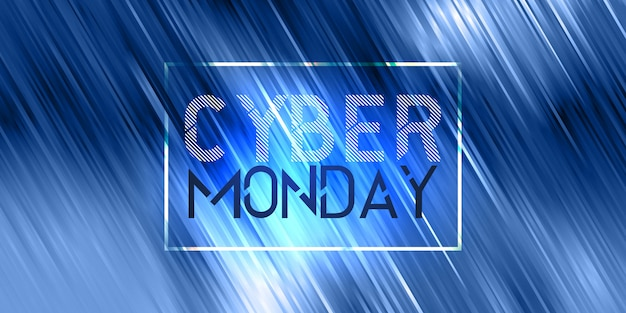Conception de bannière de vente cyber monday
