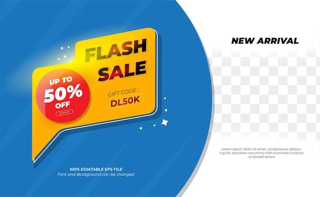 Conception de bannière de vente flash