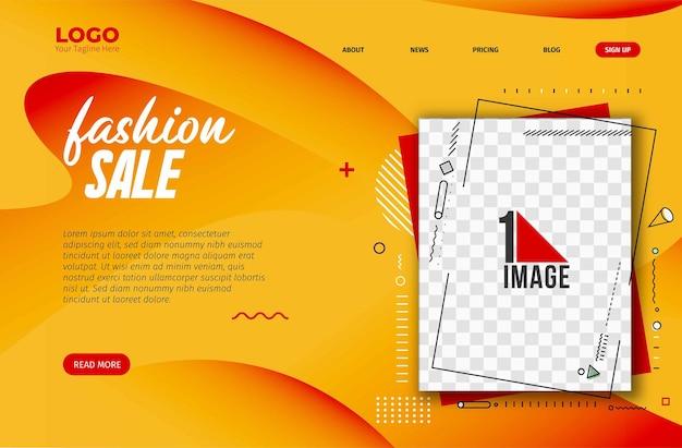 Conception de bannière de vente de mode avec l'espace de votre photo. illustration vectorielle.