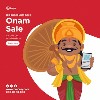 Conception de bannière de vente onam sud-indien