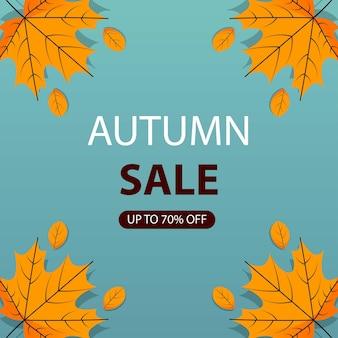 Conception de bannière de vente avec thème automne