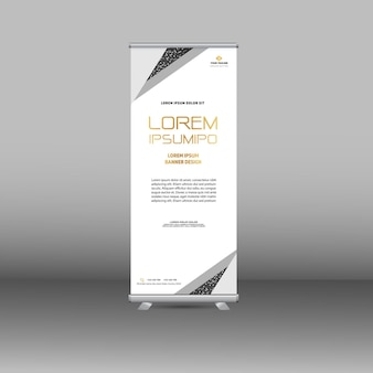 Conception de bannière de voyageur debout de luxe blanc moderne