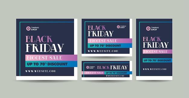 Conception de bannière web black friday ou site web de remise et modèle de bannière sociale