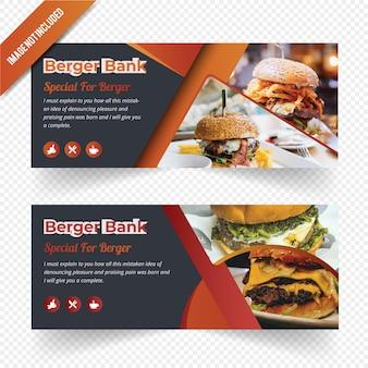 Conception de bannière web burger food
