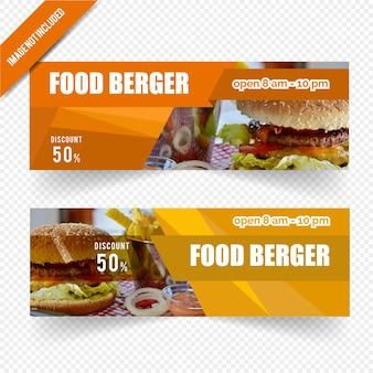 Conception de bannière web pour restaurant