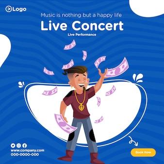 Conception de bannières de concerts en direct