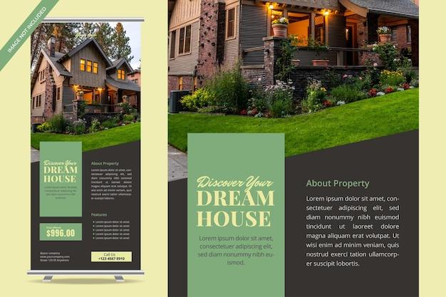 Conception de bannières enroulables pour l'immobilier