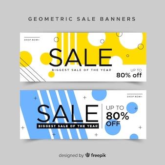 Conception de bannières géométriques pour offres et réductions
