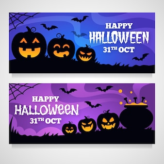 Conception de bannières halloween