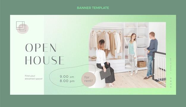 Conception de bannières immobilières portes ouvertes
