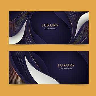 Conception de bannières de luxe réalistes