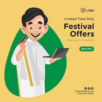 Conception de bannières d'offres de festival à durée limitée